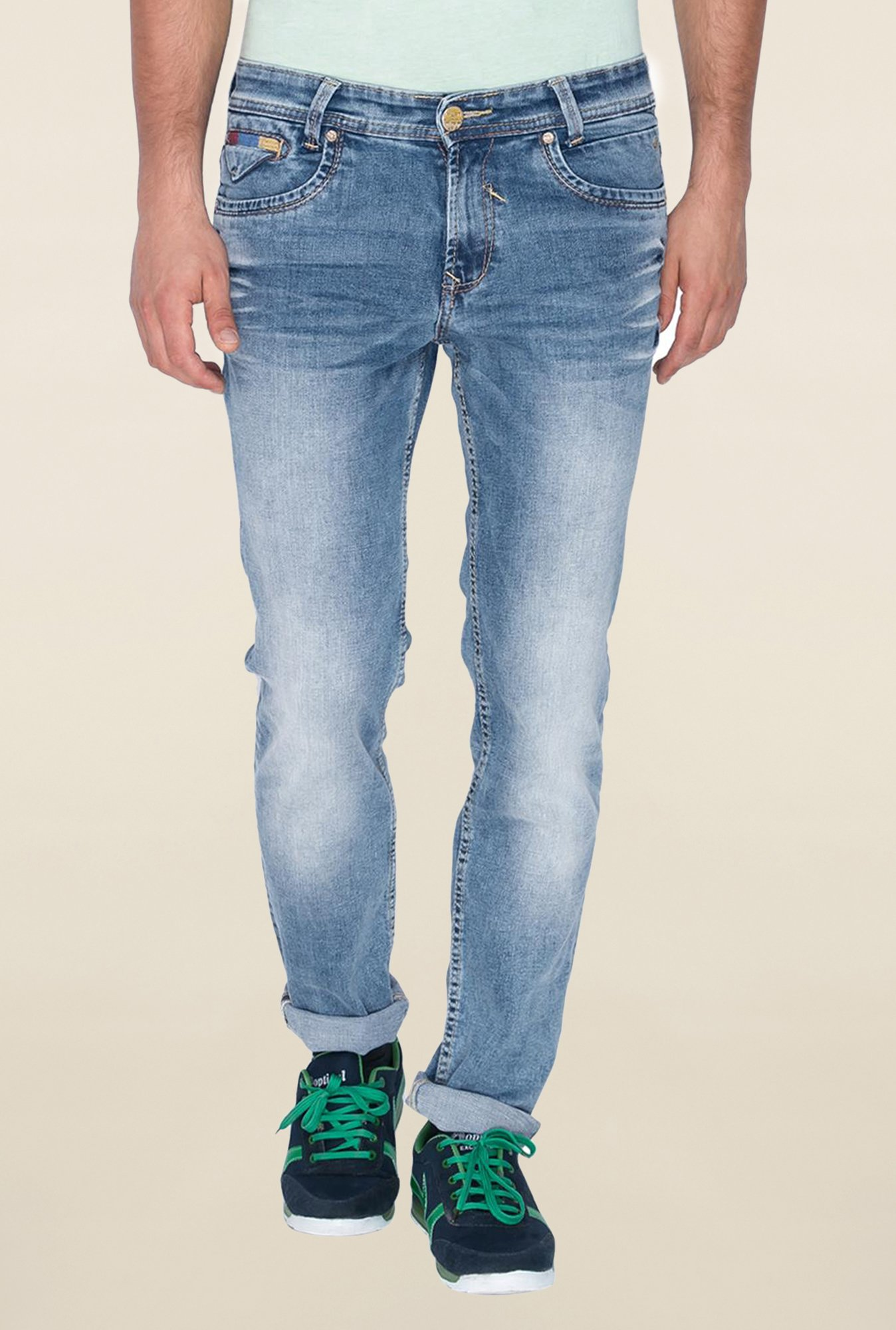 Mufti Mid Blue Jeans