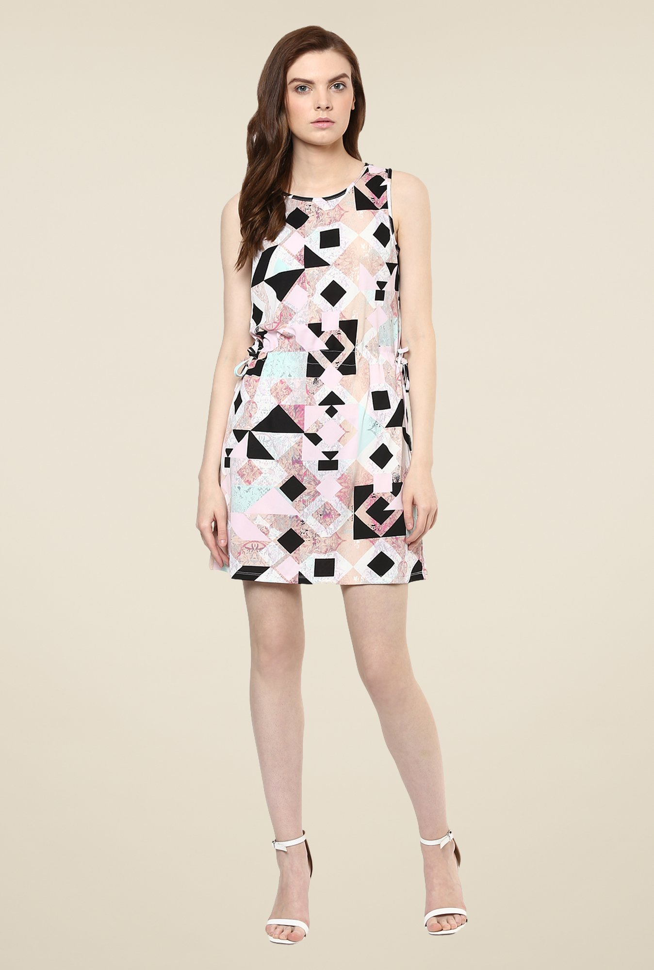 Avirate Multicolor Geometric Print Shift Dress