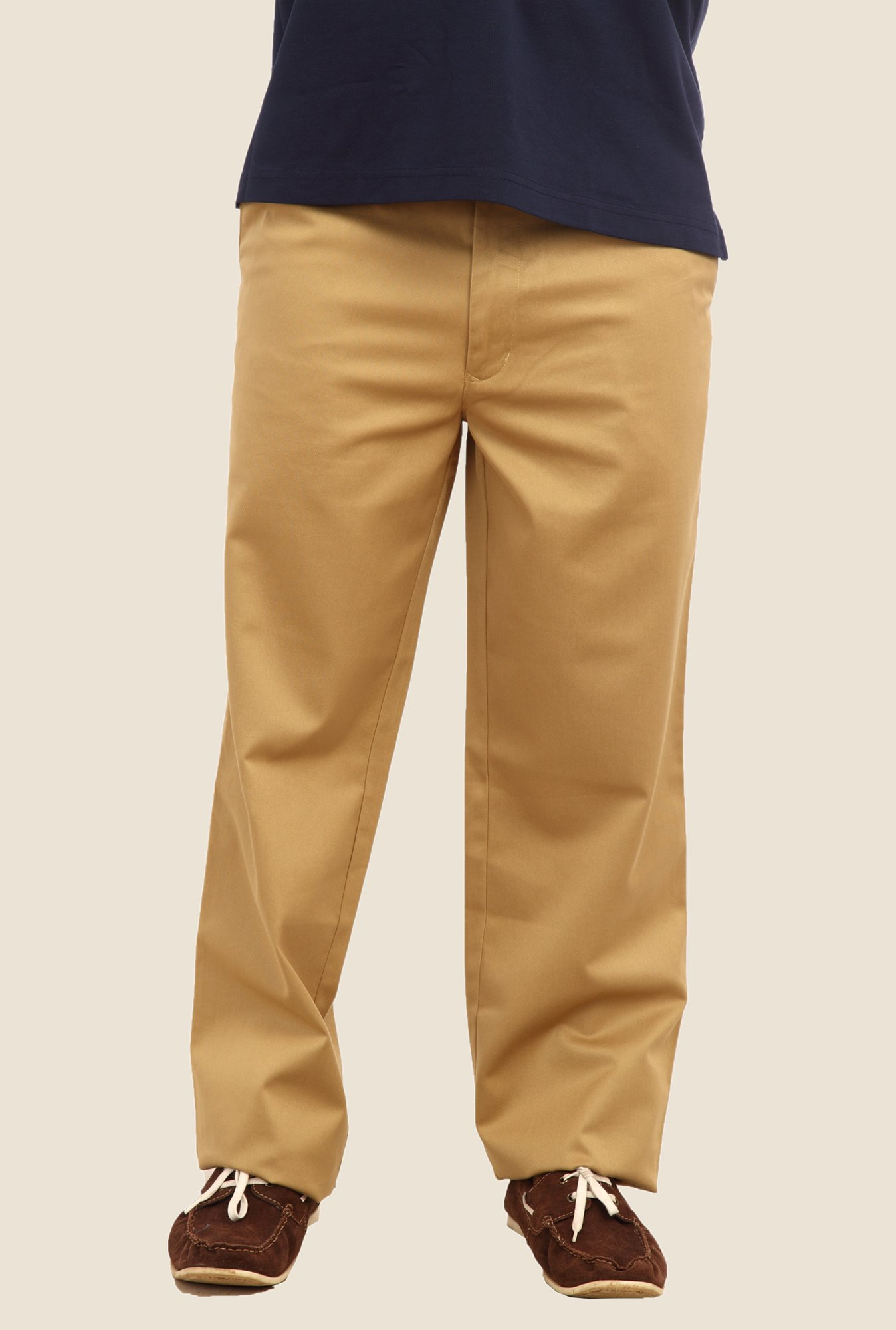 ColorPlus Khaki Solid Trouser