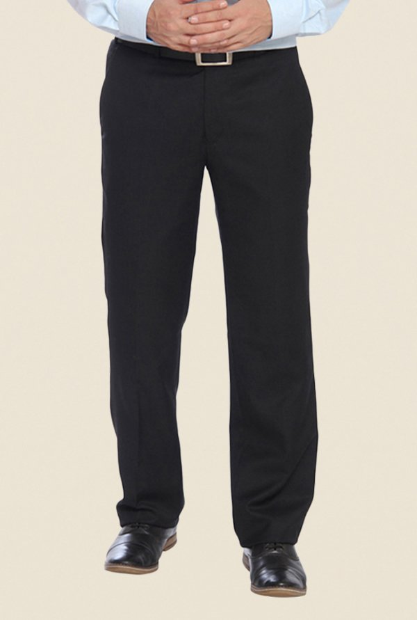 Raymond Black Solid Trouser