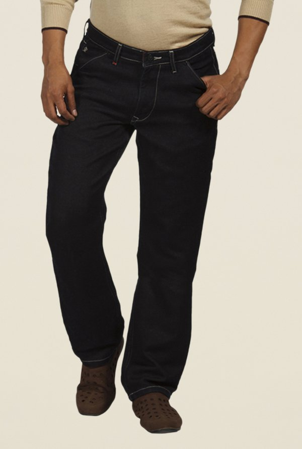 Raymond Black Raw Denim Jeans