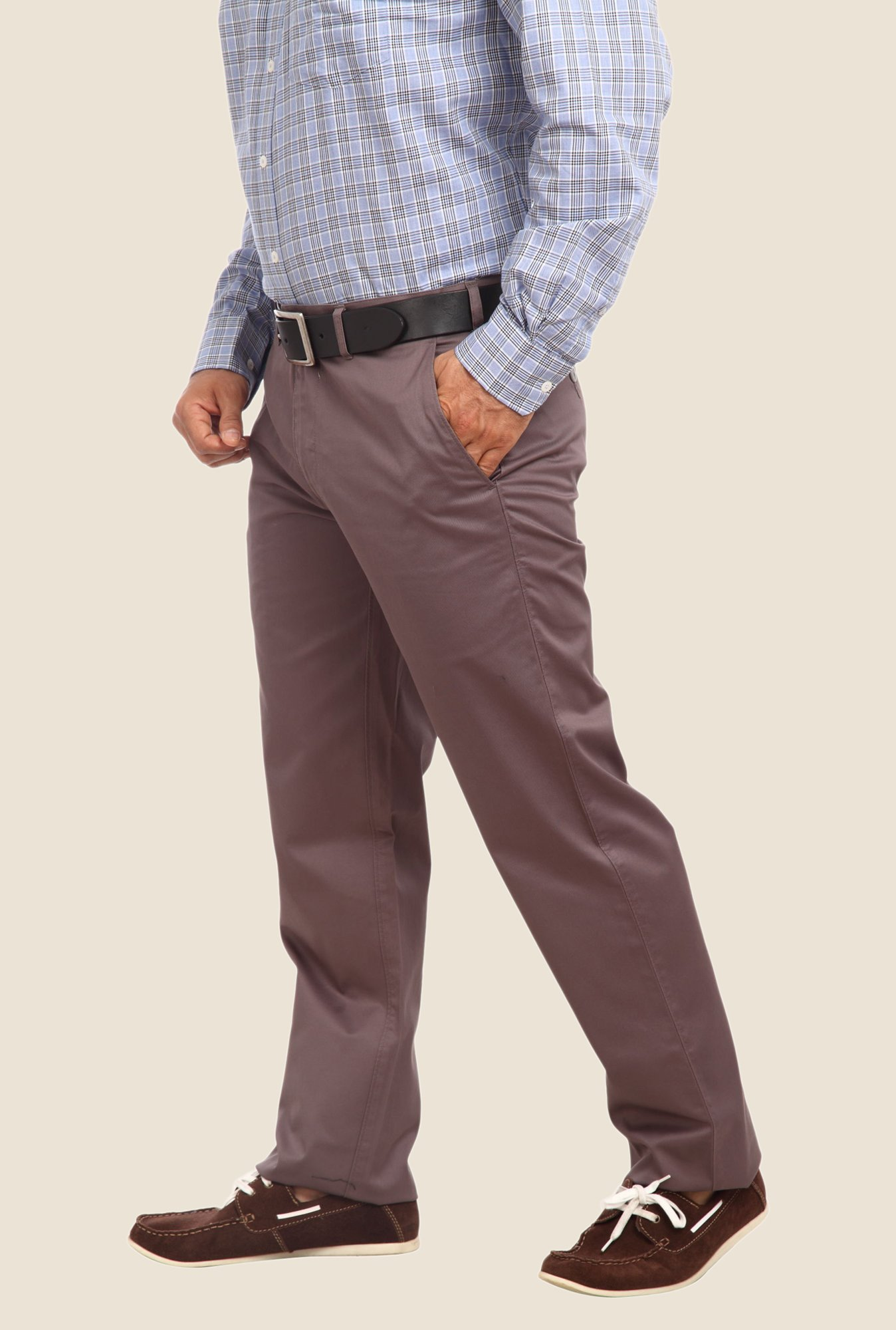 ColorPlus Grey Solid Trouser