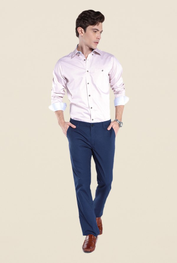Raymond Blue Solid Chinos