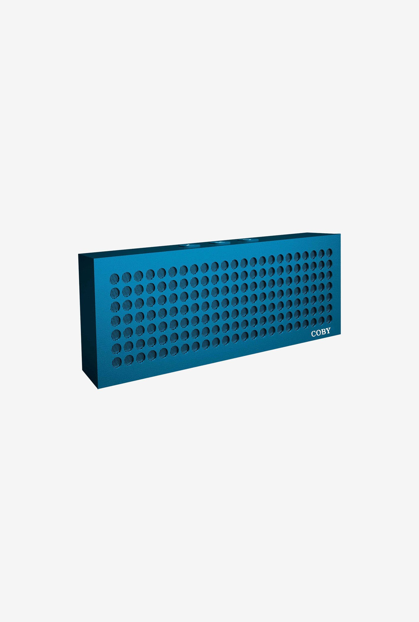 Coby Aluminum Brick Bluetooth Speaker (Blue)