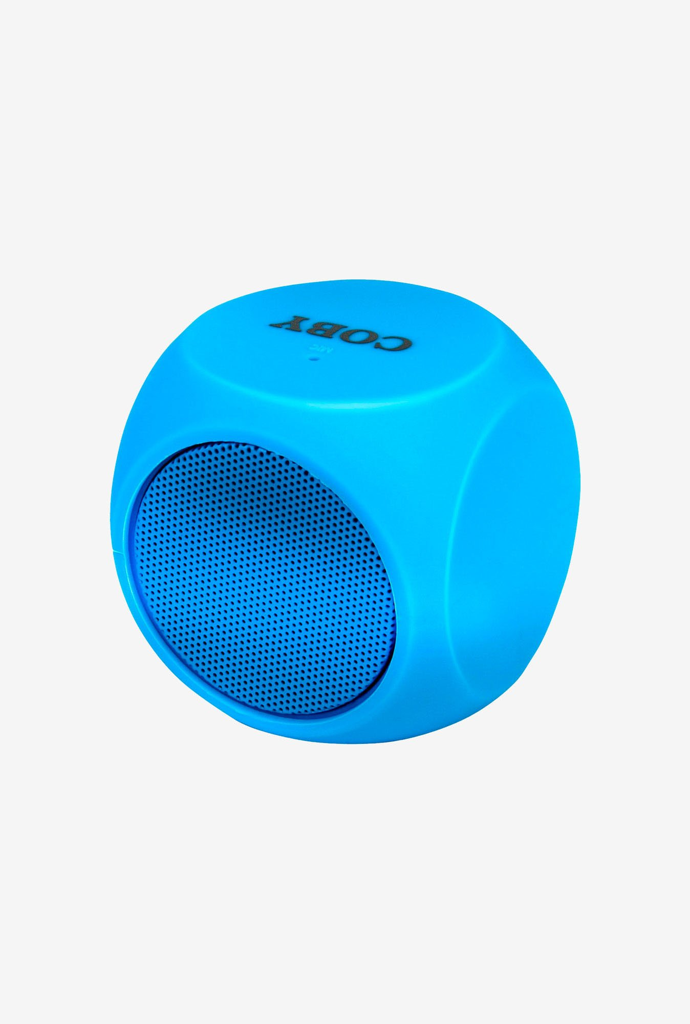 Coby CSBT-314-BLU Cube Mini Bluetooth Speaker (Blue)