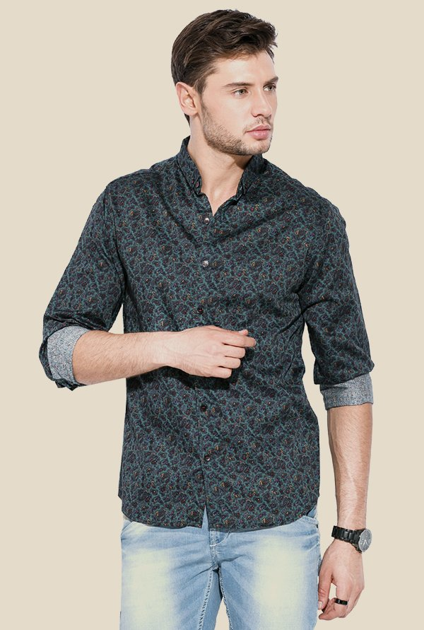 Mufti Green Paisley Shirt