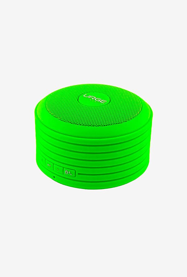 Urge Basics Bluetooth Disc Speaker (with Built-in Mic Green)
