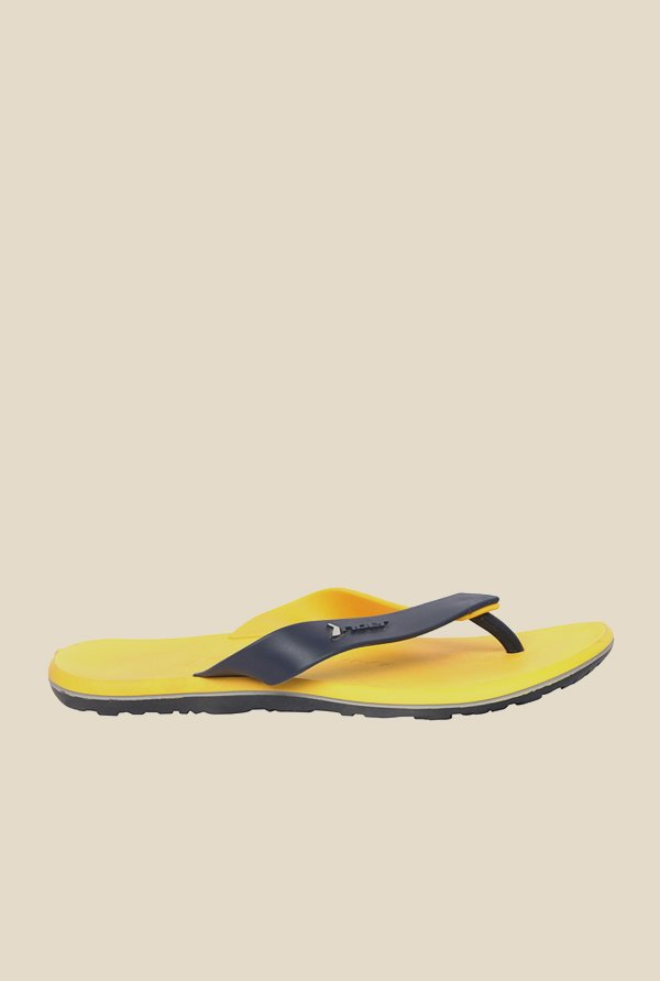 Rider Yellow & Navy Thong Flip Flops