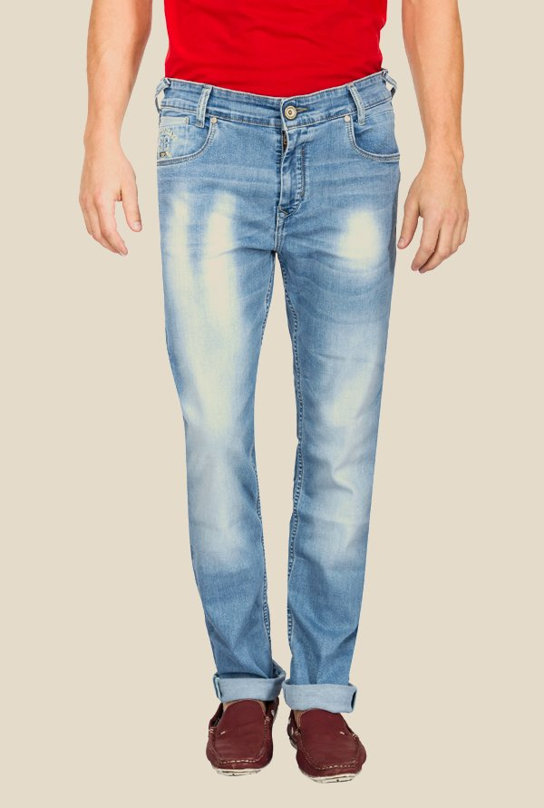 Mufti Blue Acid Washed Jeans