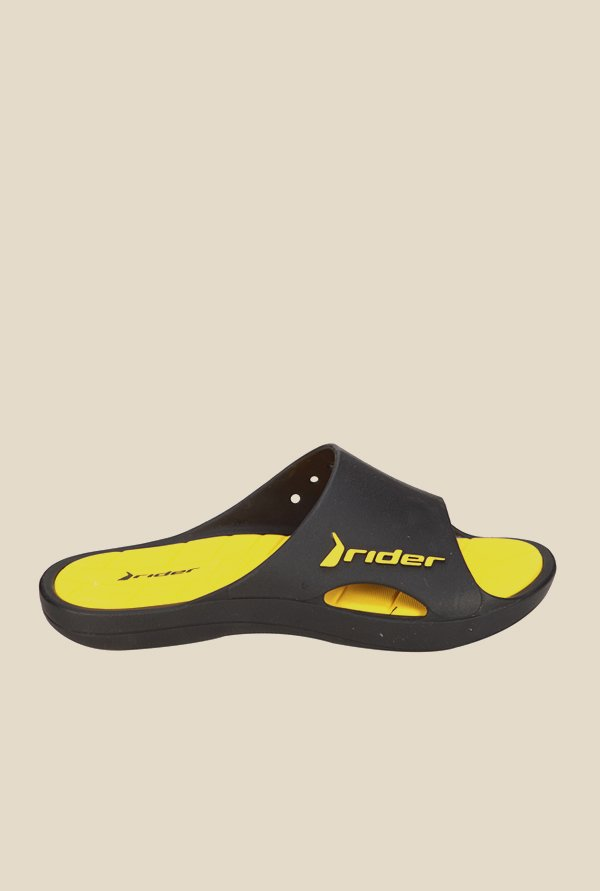 Rider Black & Yellow Flip Flops