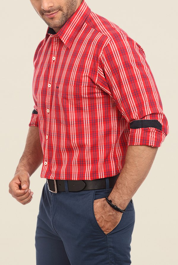 ColorPlus Red Checks Shirt