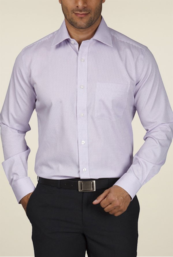 Park Avenue Violet Checks Cotton Shirt