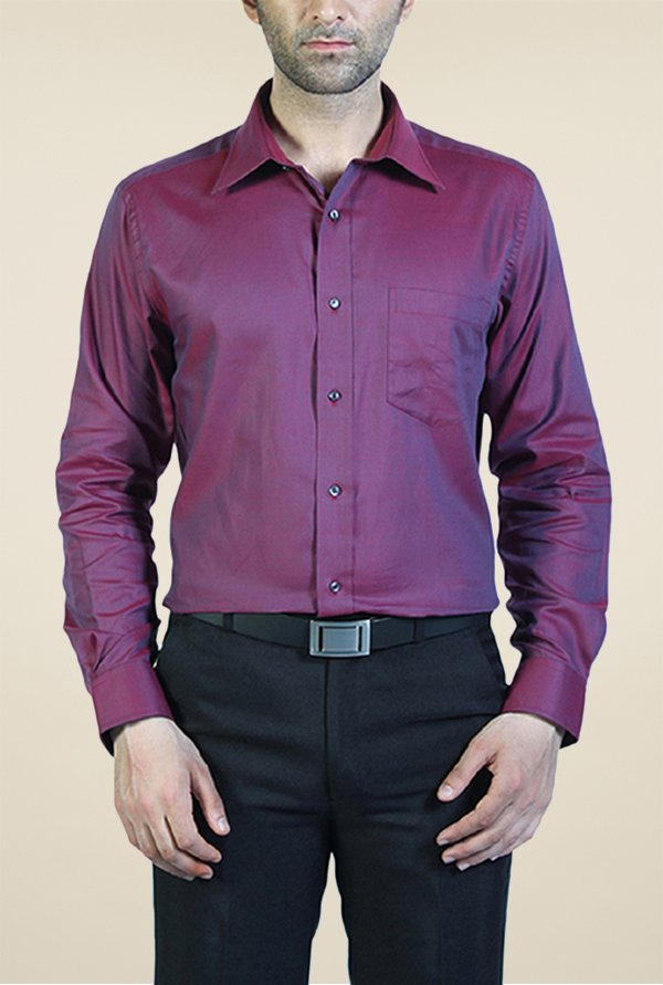 Park Avenue Purple Solid Cotton Shirt