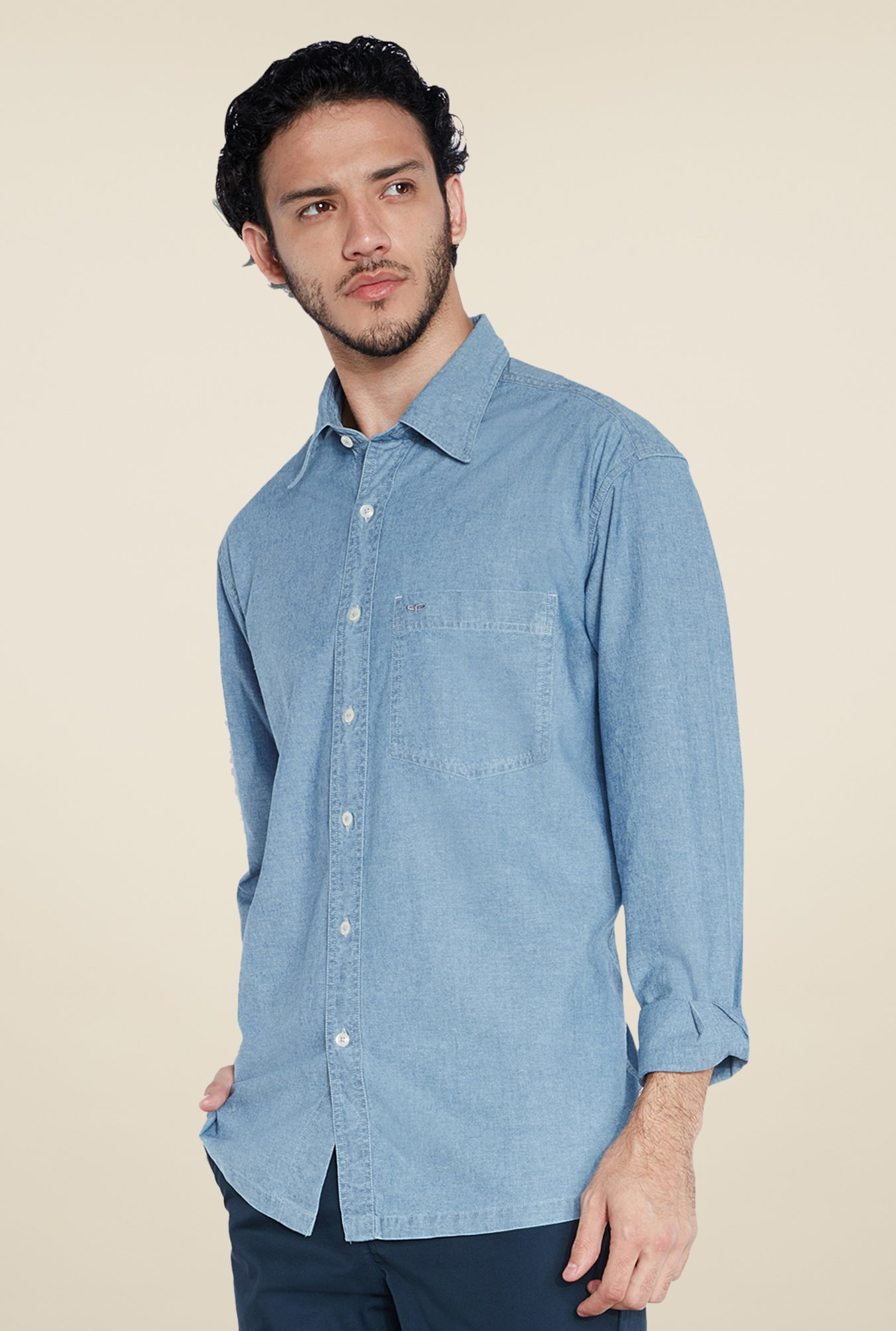 ColorPlus Indigo Solid Shirt