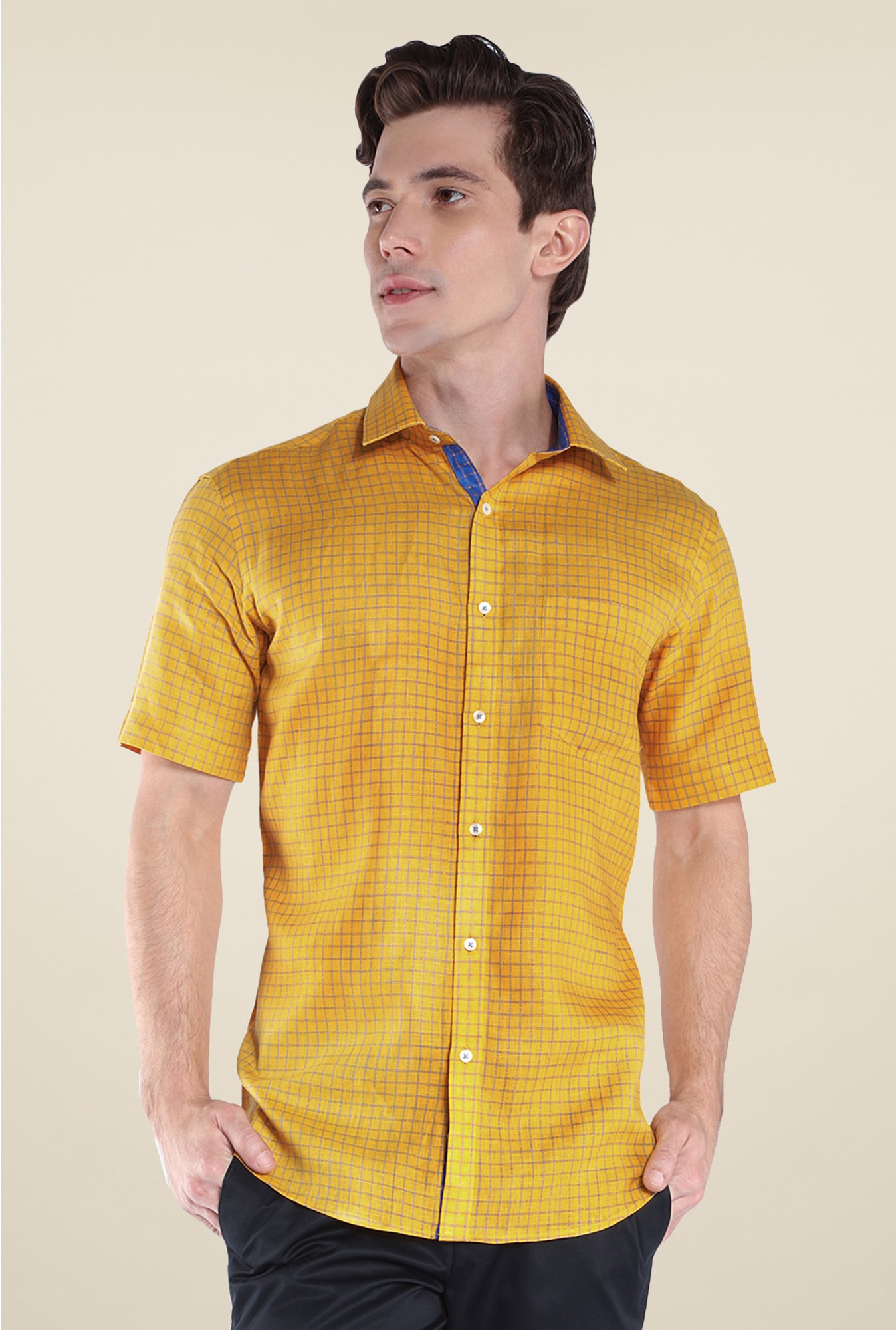 Park Avenue Yellow Linen Shirt