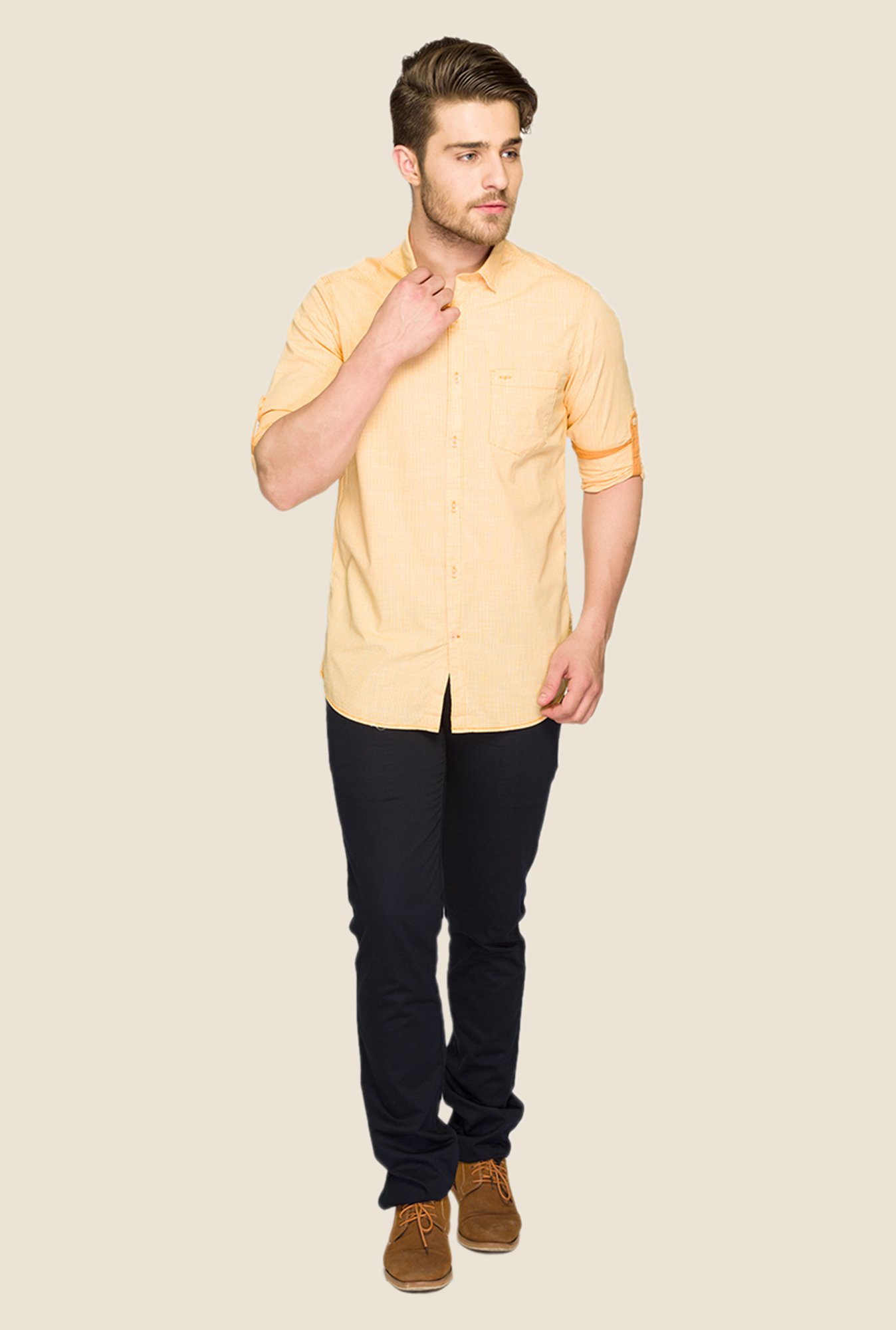 ColorPlus Orange Solid Shirt