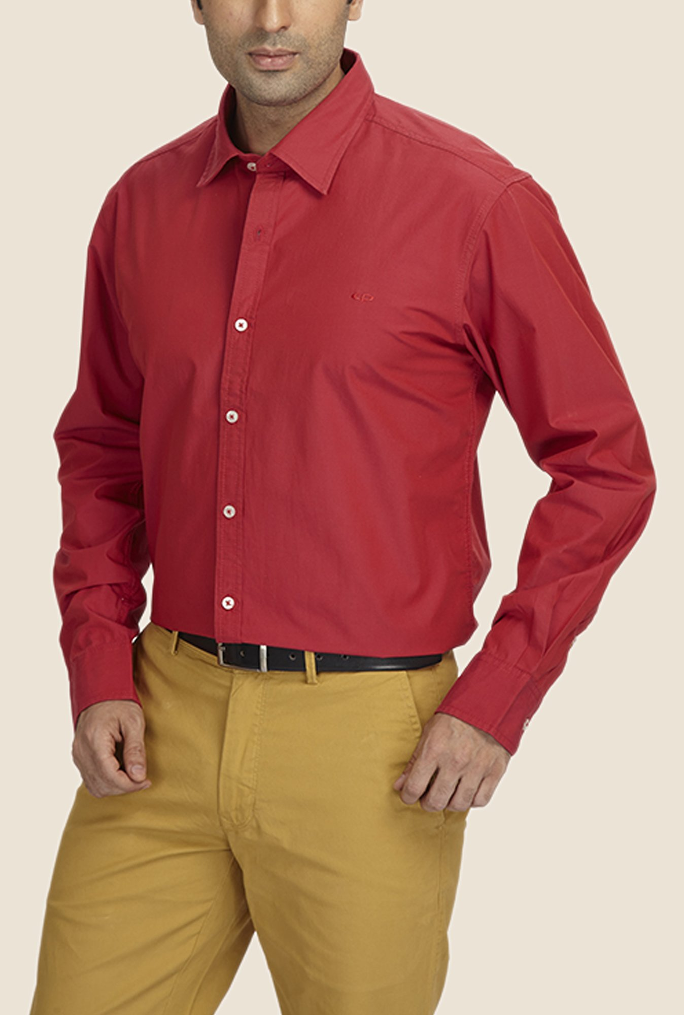 ColorPlus Red Solid Shirt