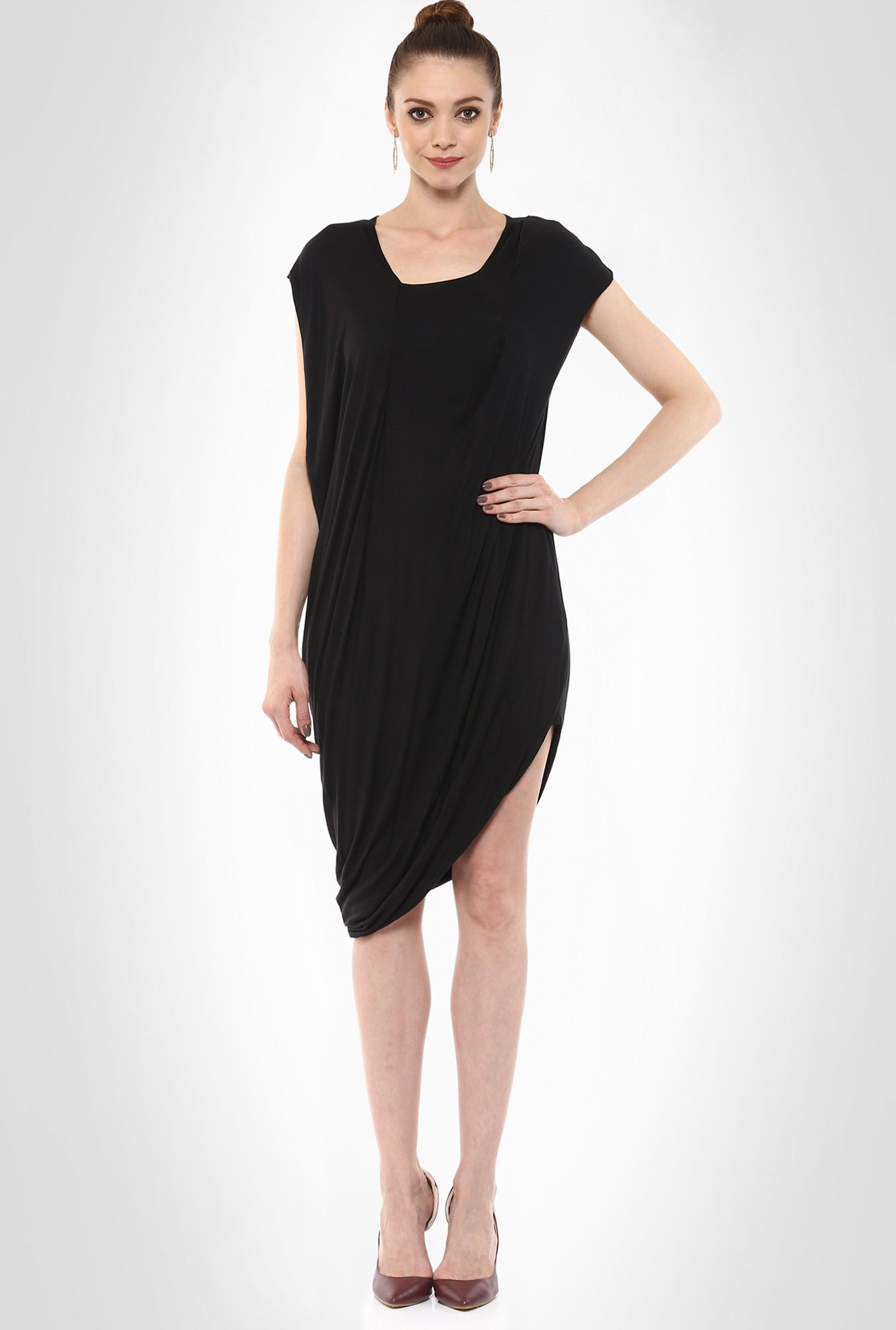 Gaurav Gupta Designer Wear Draped Asymmetric LBD By Kimaya
