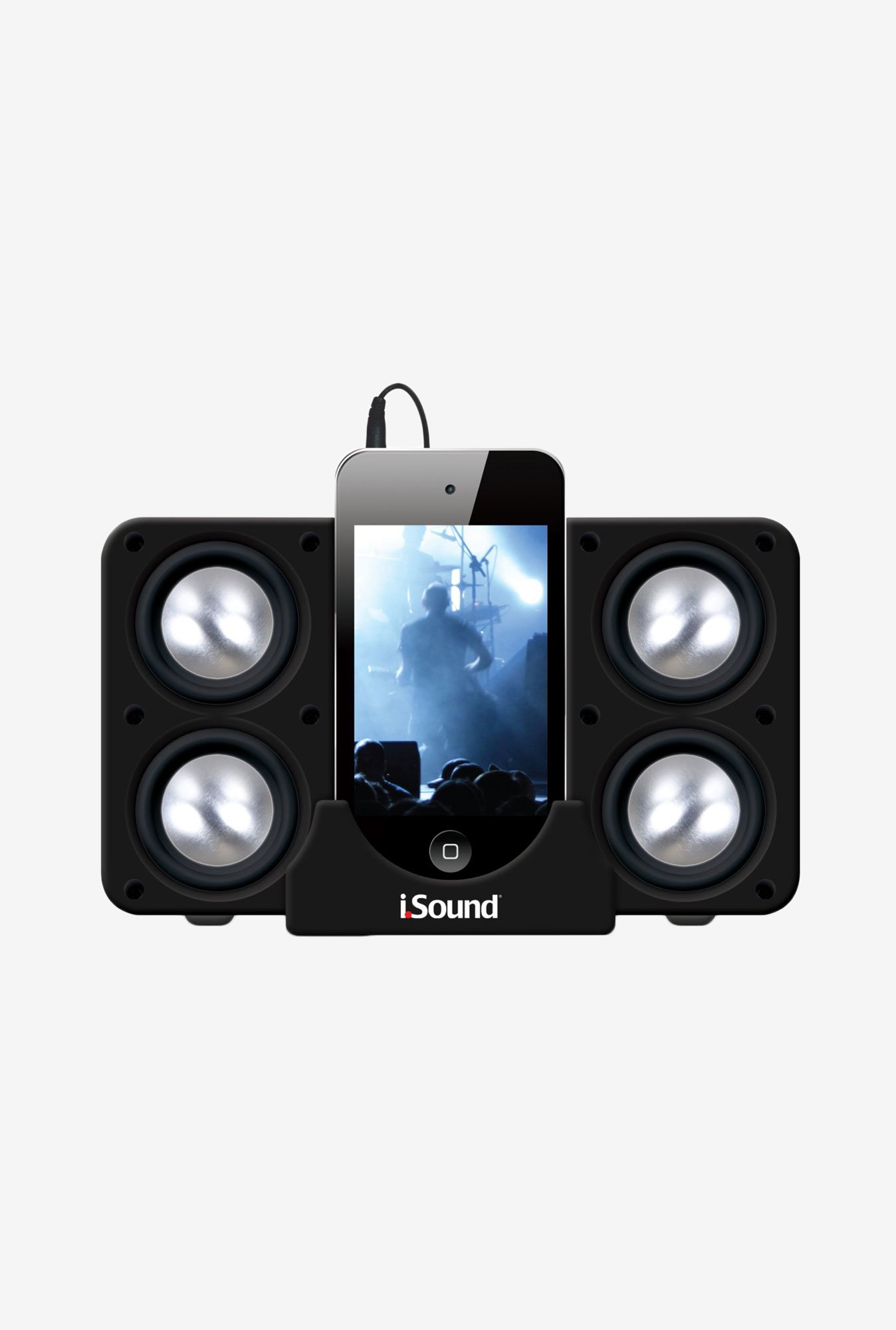 Isound Quad-X 5218 Portable Speaker (System Black)