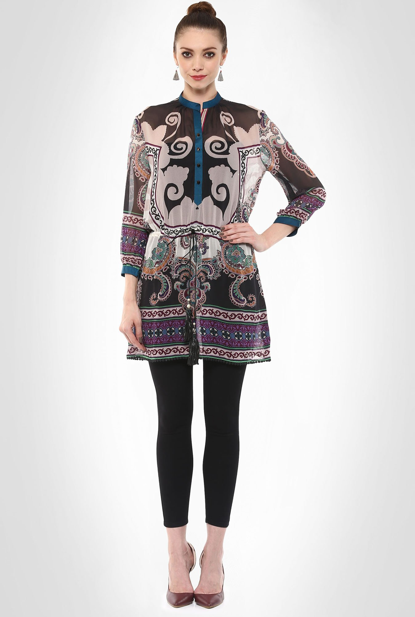 Rajdeep Designer Wear Popover Printed Tunic By Kimaya