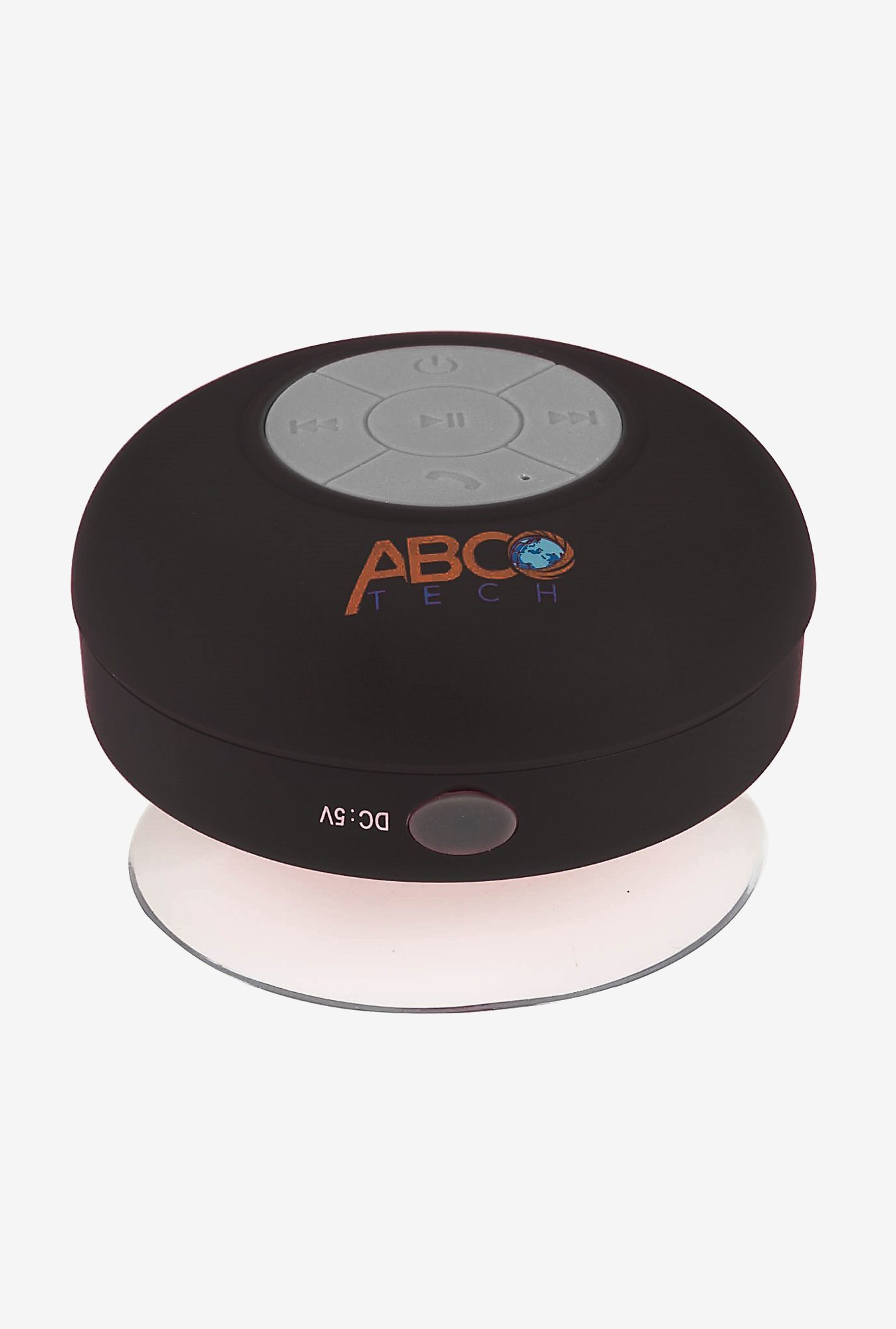 Abco Tech Water Resistant Bluetooth Shower Speaker (Black)