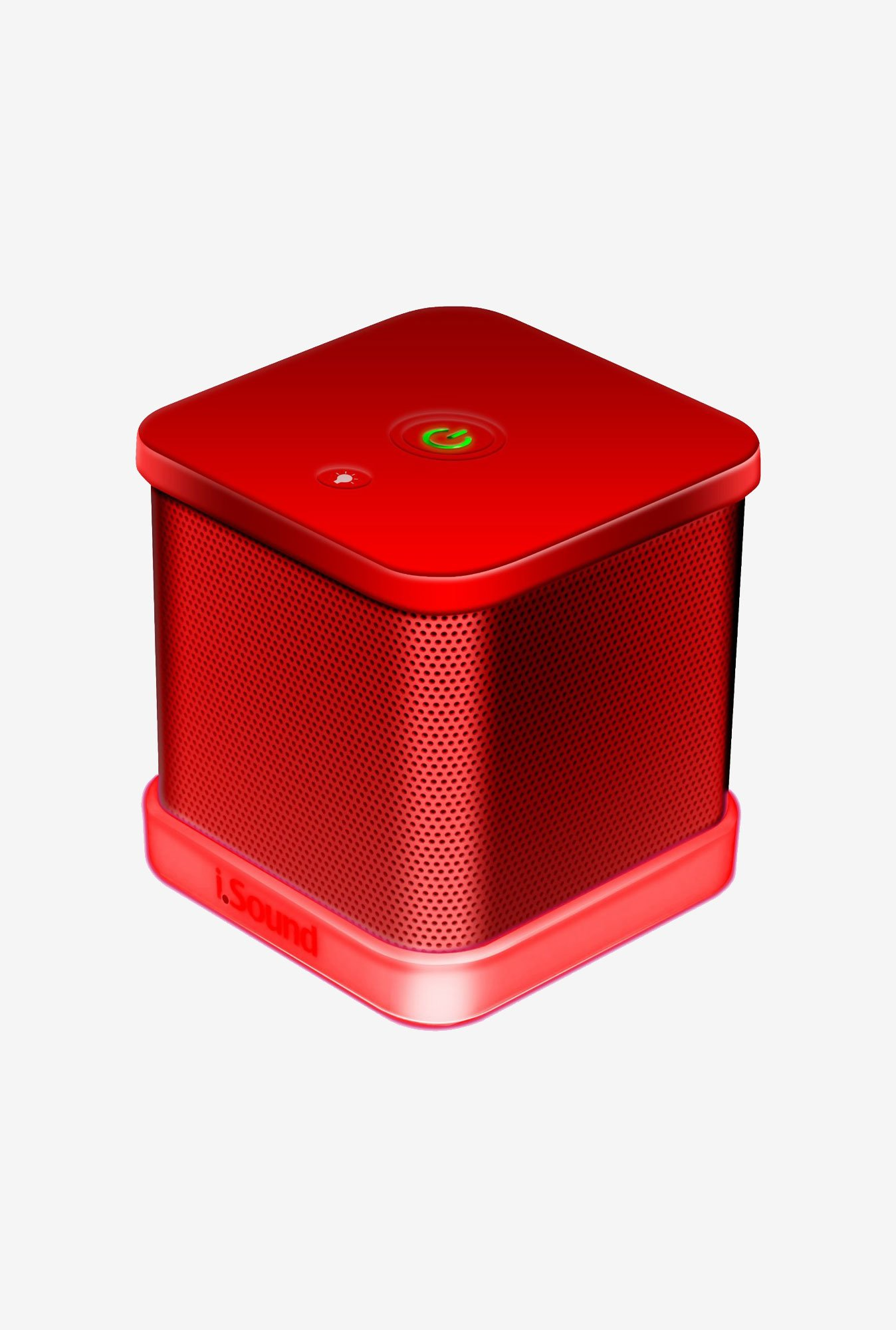 Isound 6208 Cube Speaker (Red)
