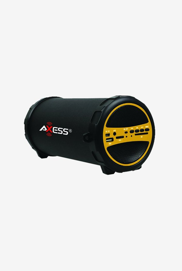 Axess SPBT1031 Bluetooth Hi-Fi Cylinder Loud Speaker Yellow