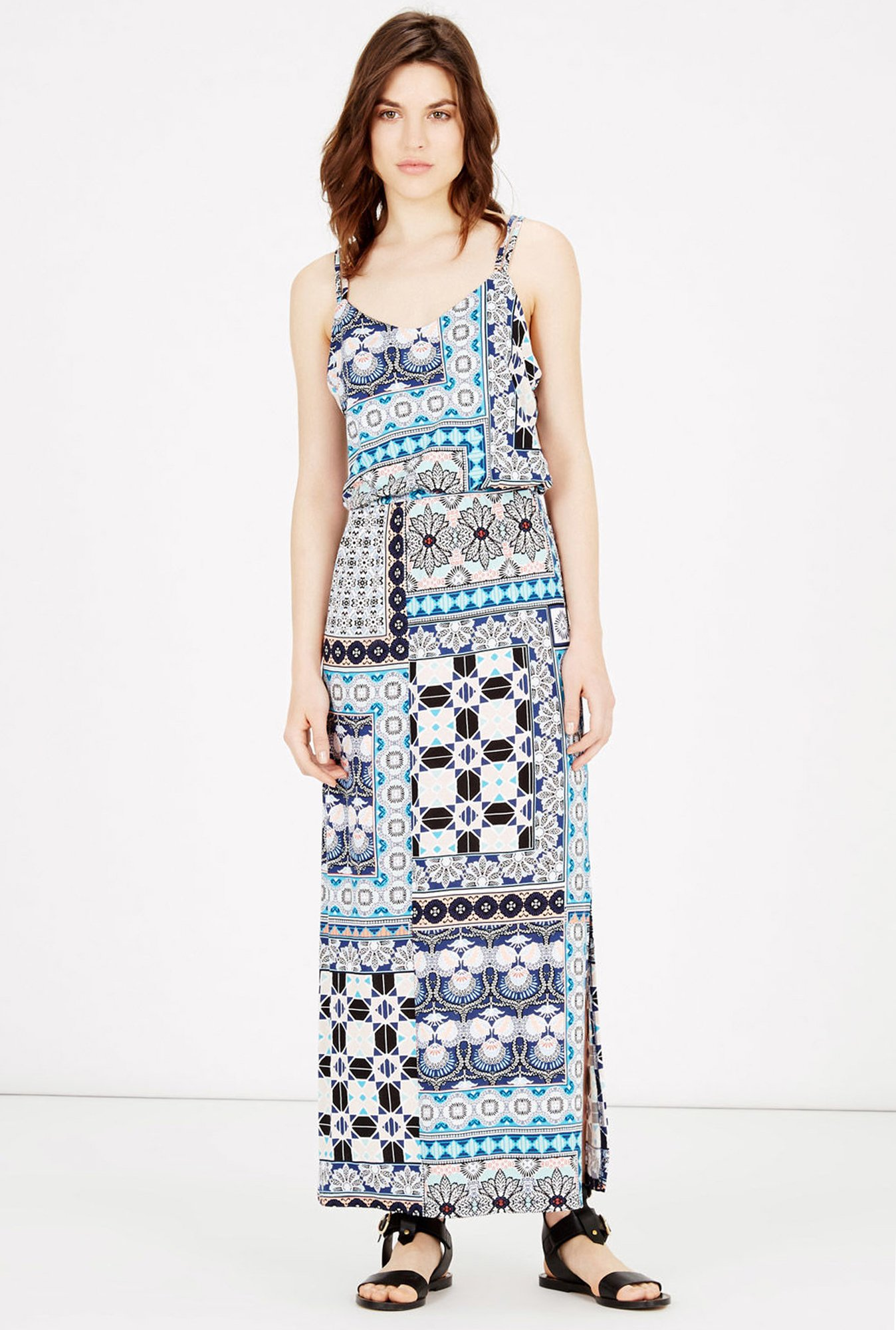Warehouse Multicolor Printed Maxi Dress