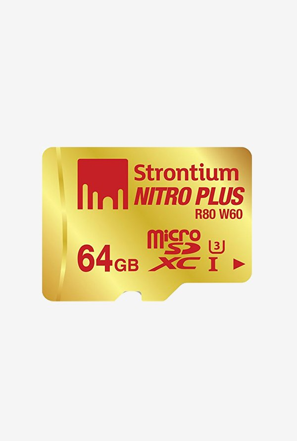 Strontium 64 GB MicroSD Nitro Plus UHS-I with Adaptor&Reader