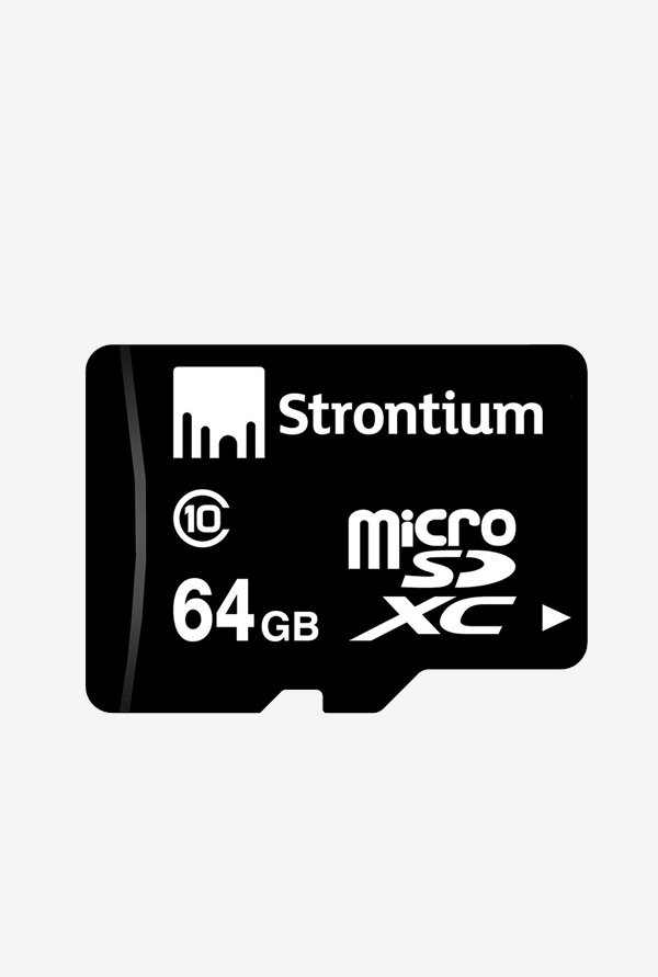 Strontium 64 GB Micro SD With Adapter Class 10 Memory Card