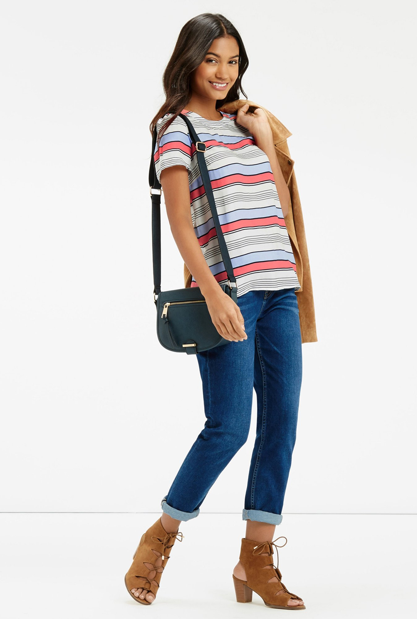 Oasis Multicolor Striped Top