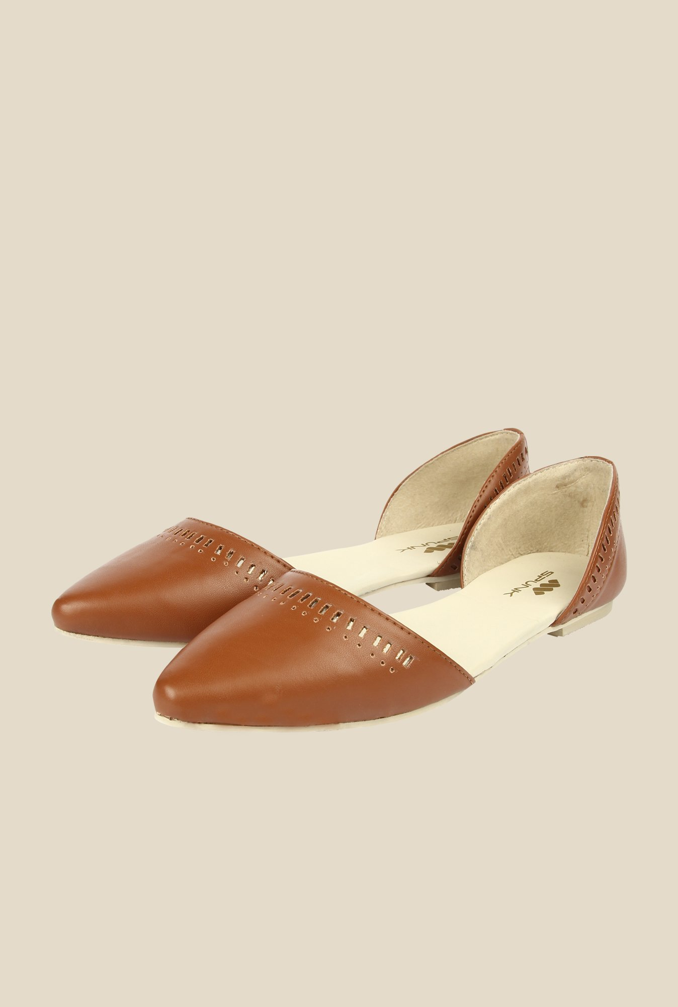 Spunk Radiance Brown D'orsay Flats