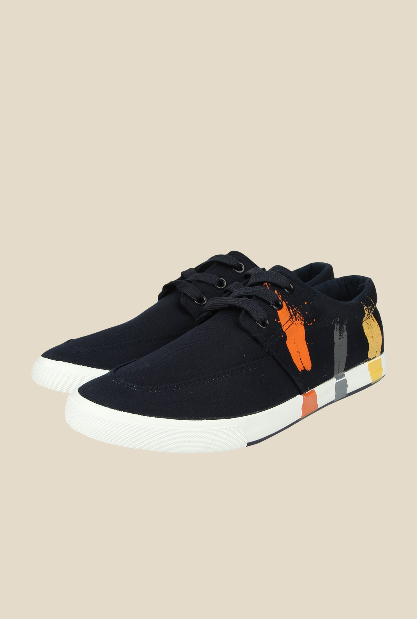 Spunk Pulse Navy Casual Shoes