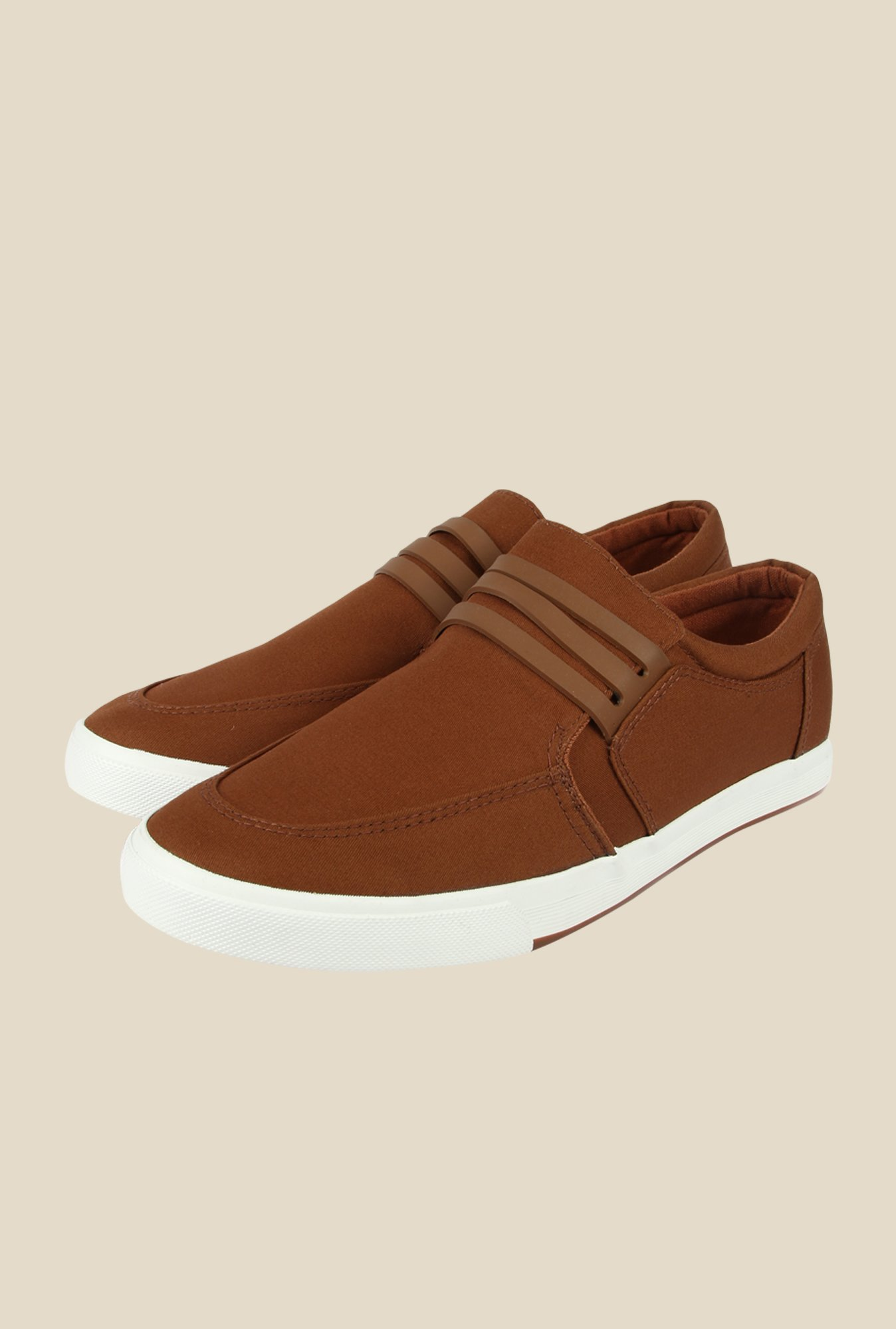Spunk Sailor Brown Plimsolls