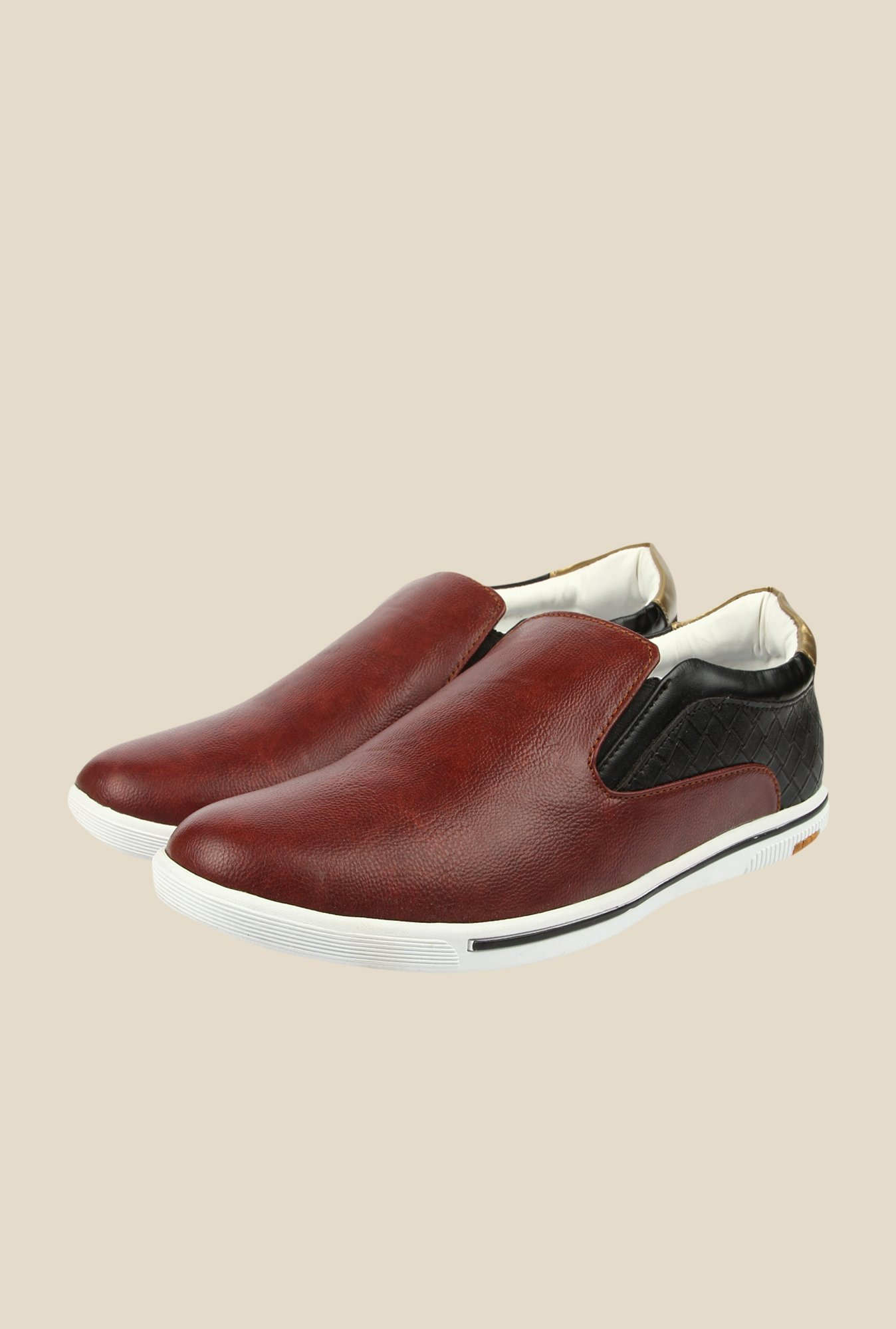 Spunk Orion Burgundy Casual Slip-Ons