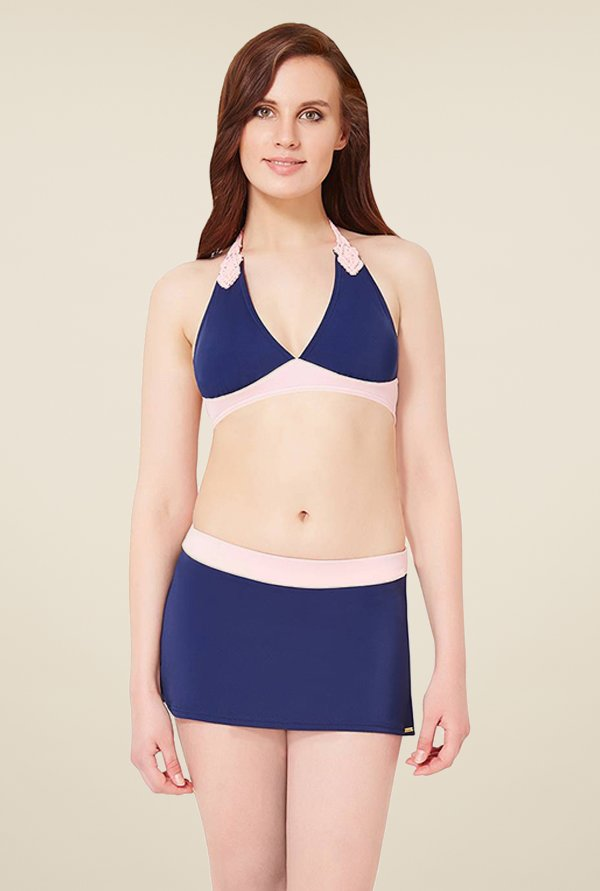 Amante Navy Swimwear Skirtini