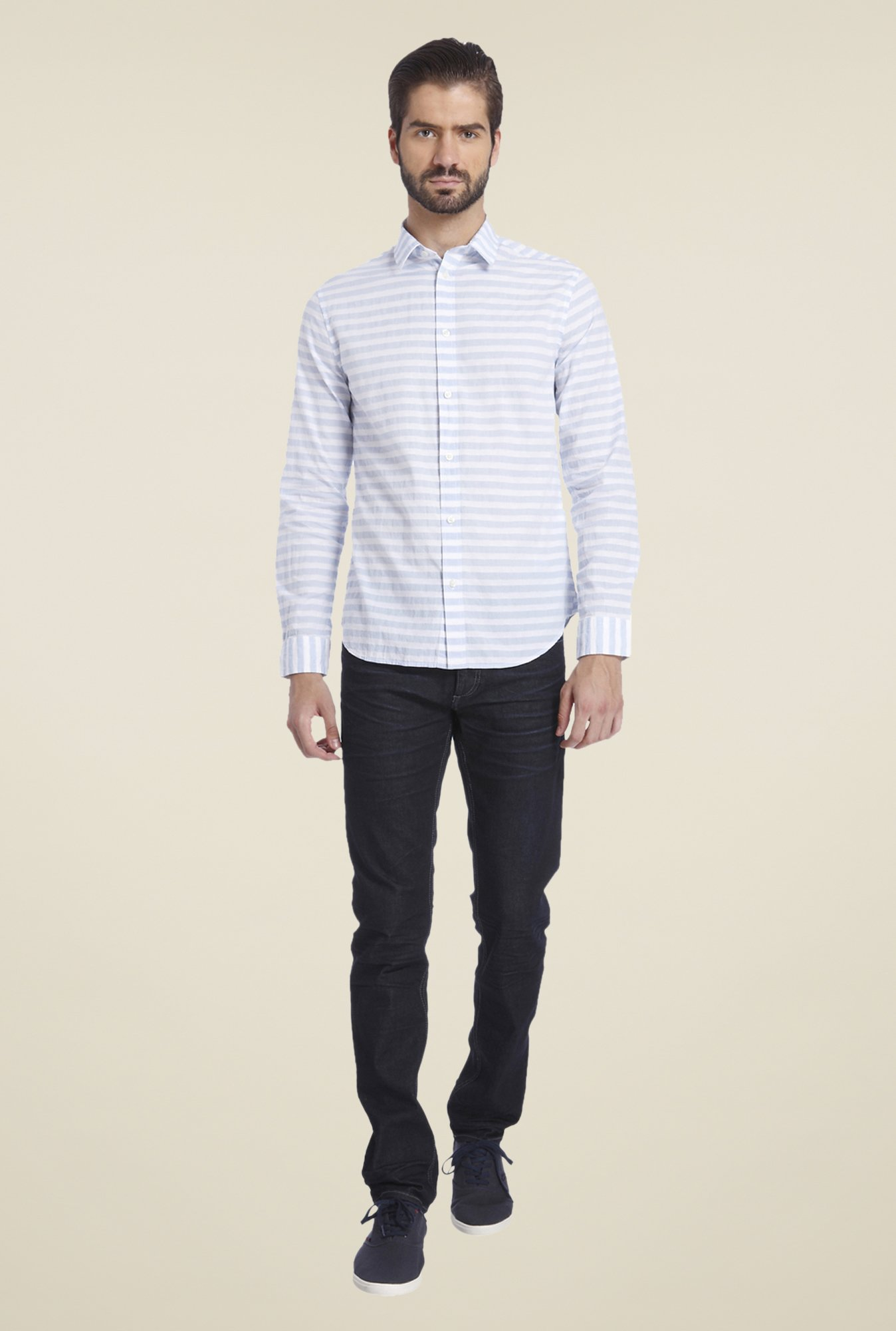 Jack & Jones Light Blue Striped Shirt