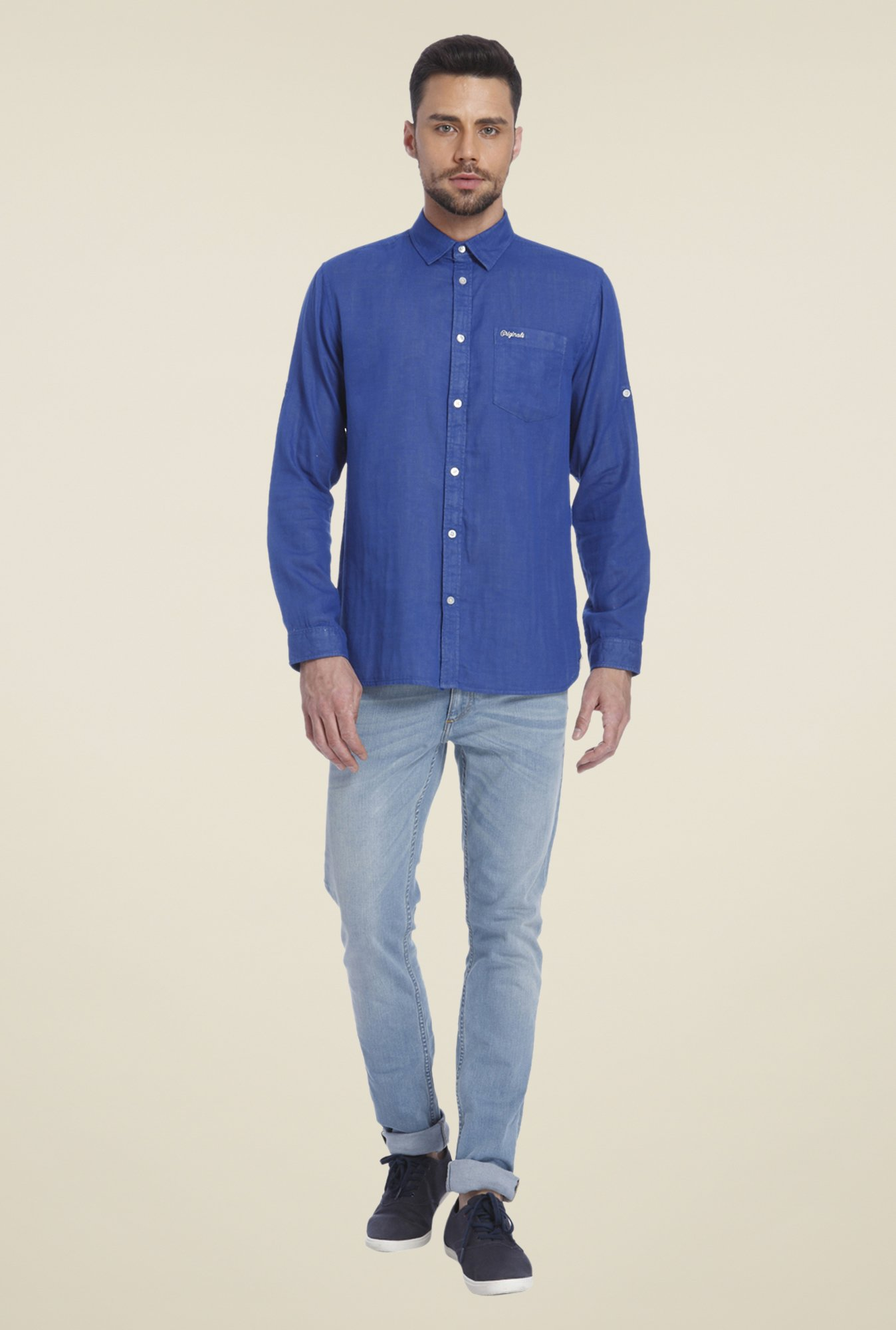 Jack & Jones Indigo Solid Shirt