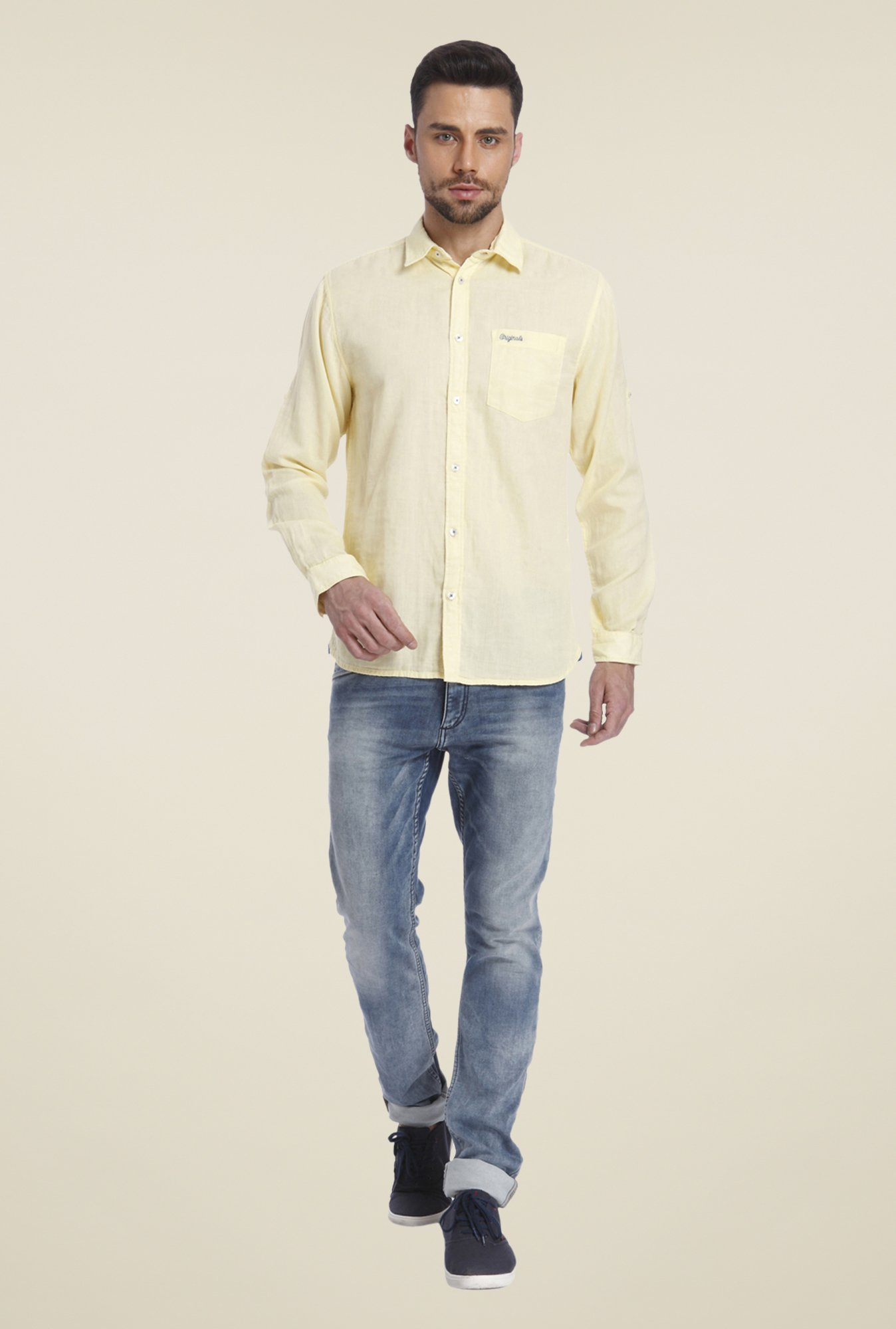 Jack & Jones Yellow Solid Shirt