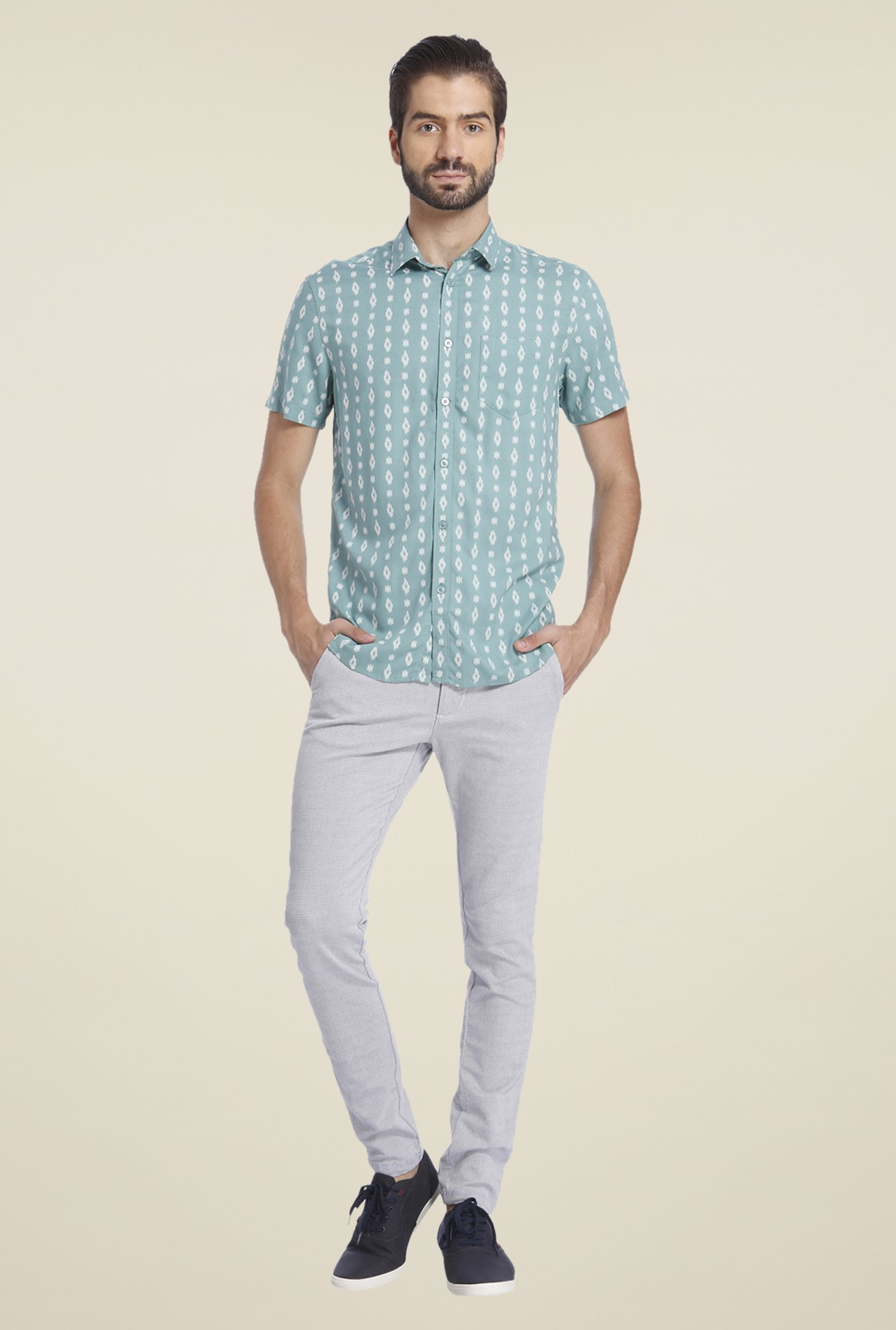 Jack & Jones Green Printed Shirt