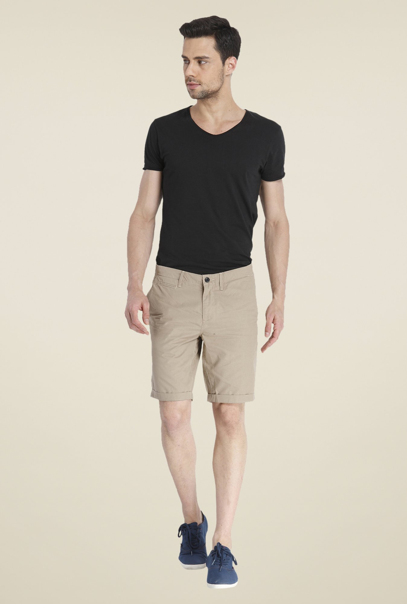 Jack & Jones Beige Cotton Shorts