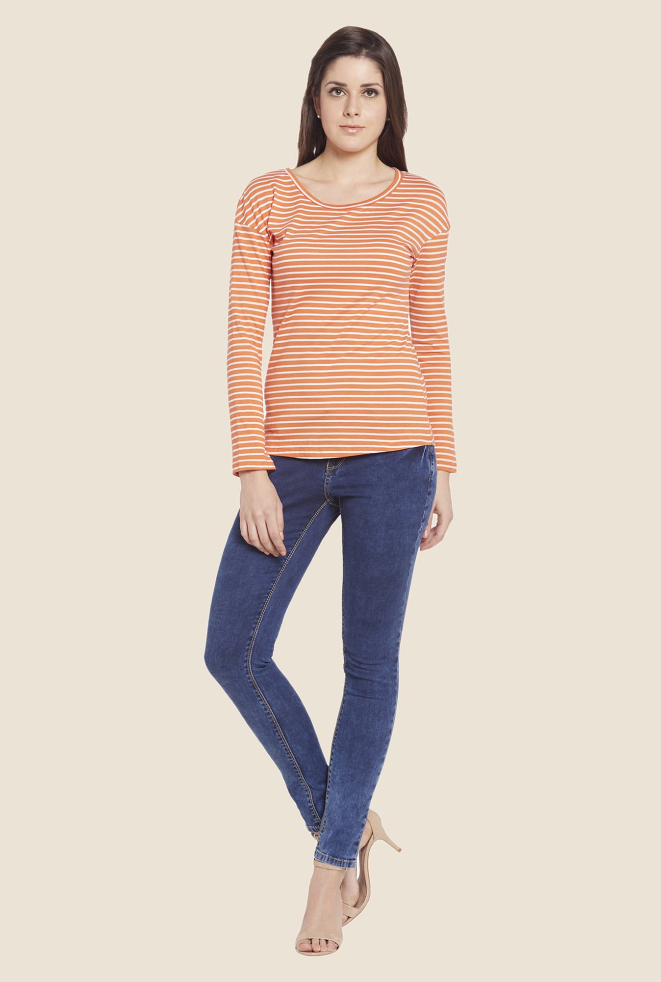 Globus Orange Striped Top