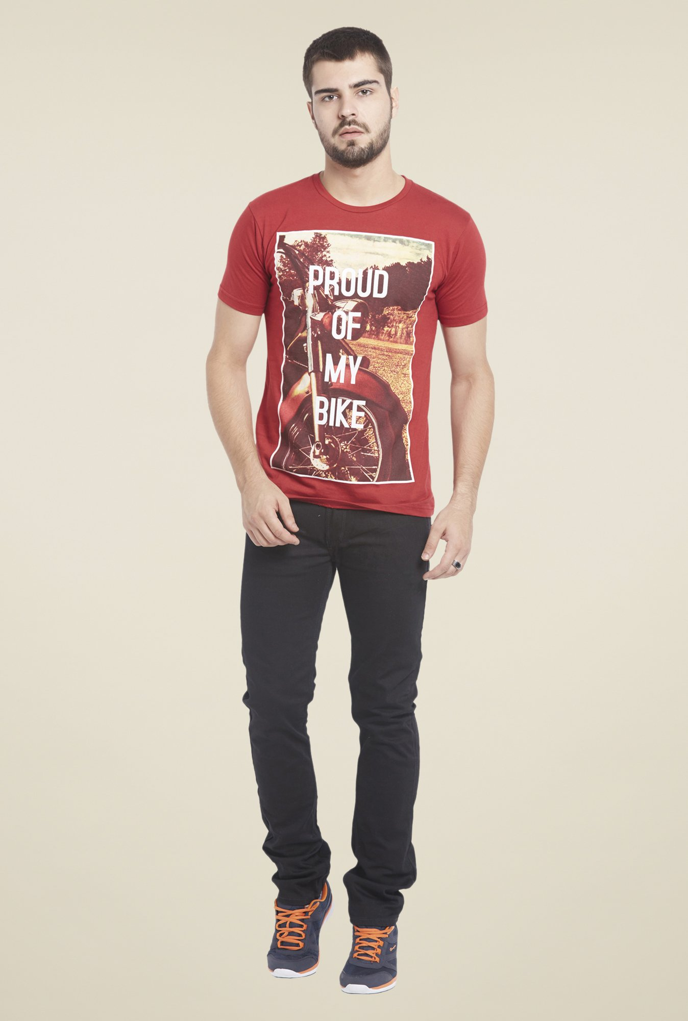 Globus Red Graphic Print T Shirt