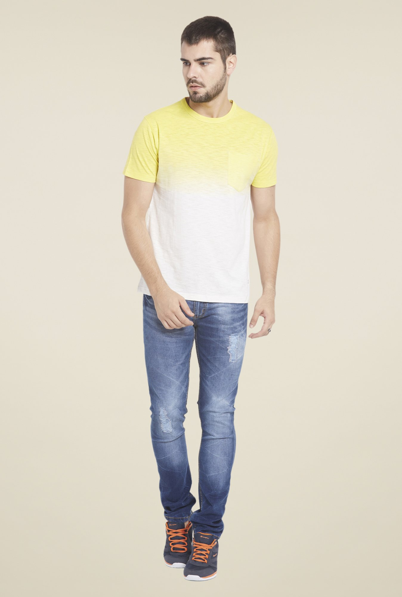 Globus White & Yellow Ombre T Shirt