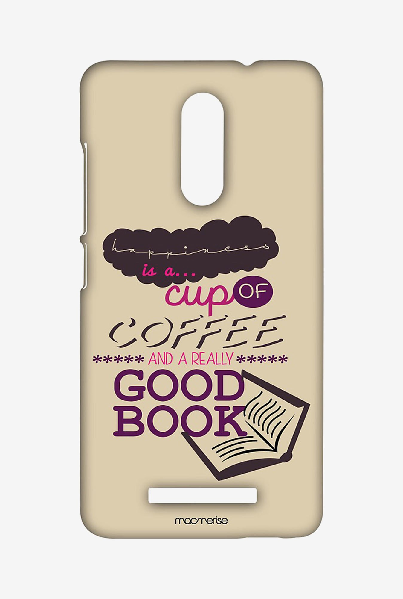 Macmerise XACN3SMI0152 Coffee and Good book Sublime Case for Xiaomi Redmi Note 3