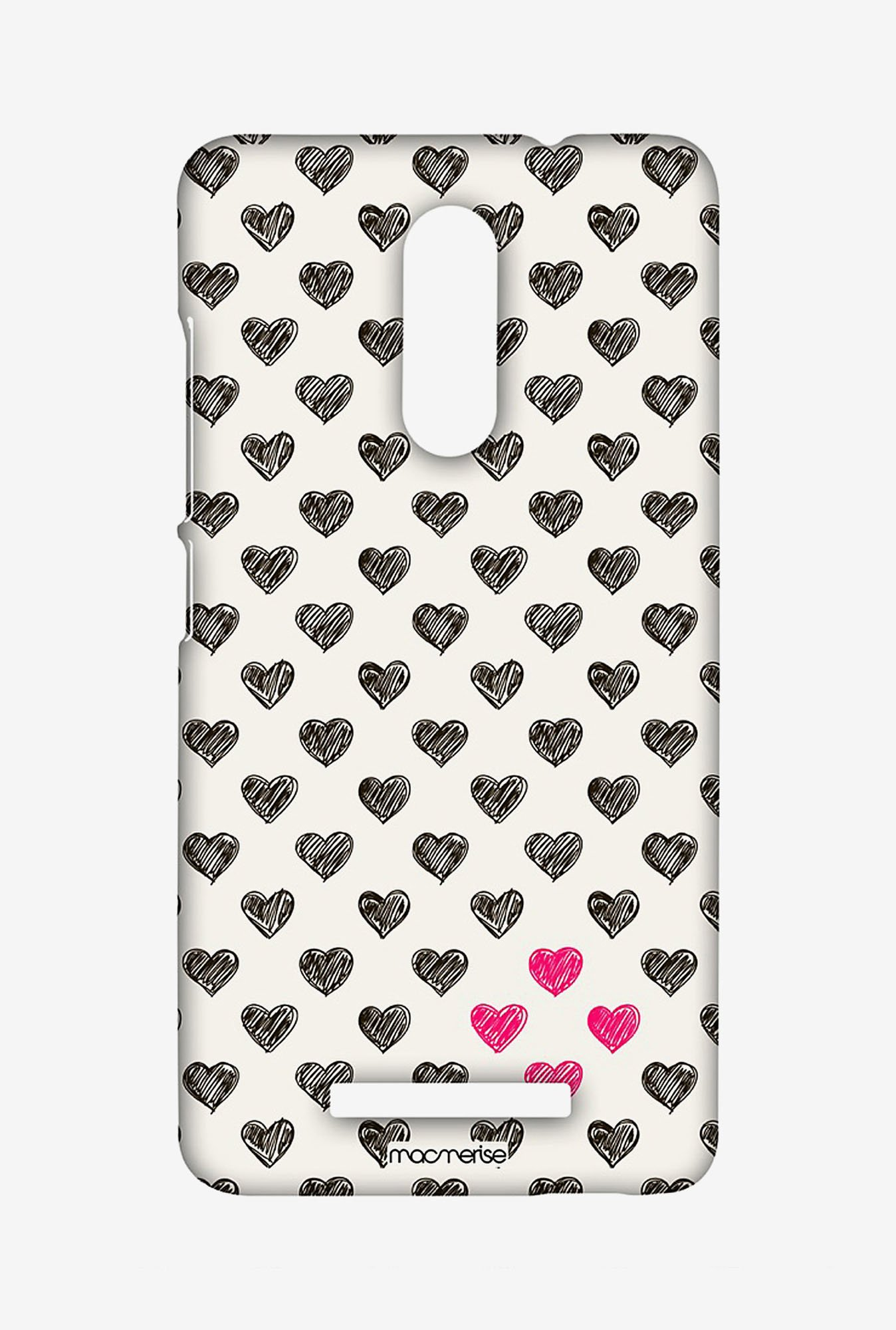 Macmerise XACN3SMI0884 Sketchy Hearts Sublime Case for Xiaomi Redmi Note 3