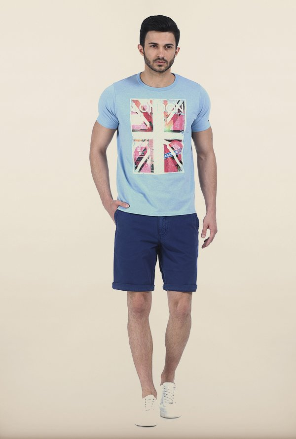 Basics Heather Blue Crew T Shirt