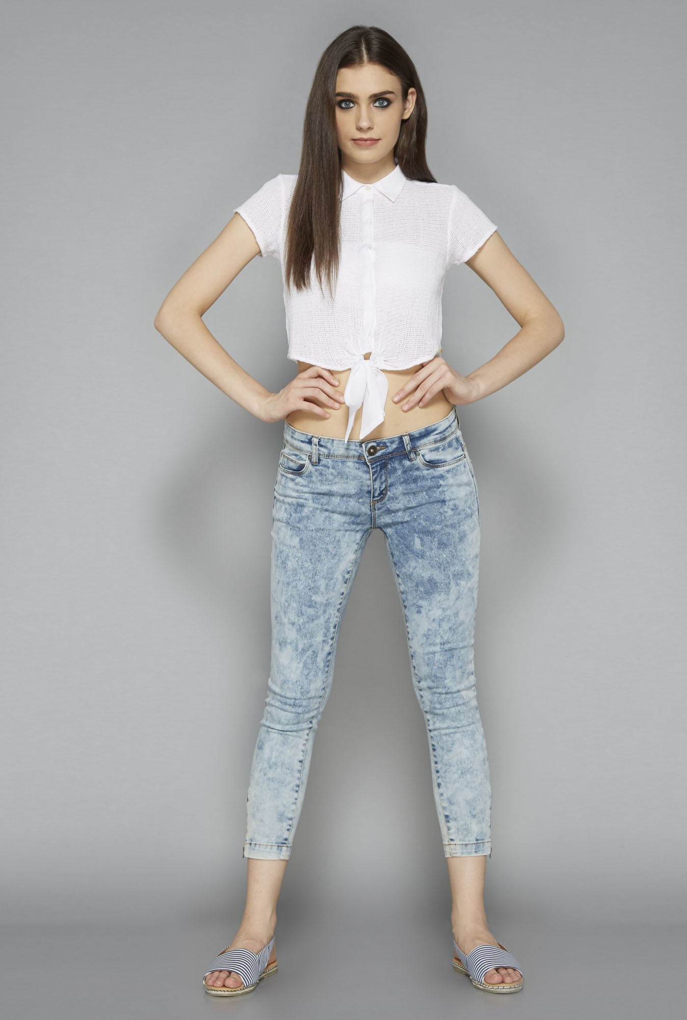 Nuon by Westside White Scooty Lace Crop Top