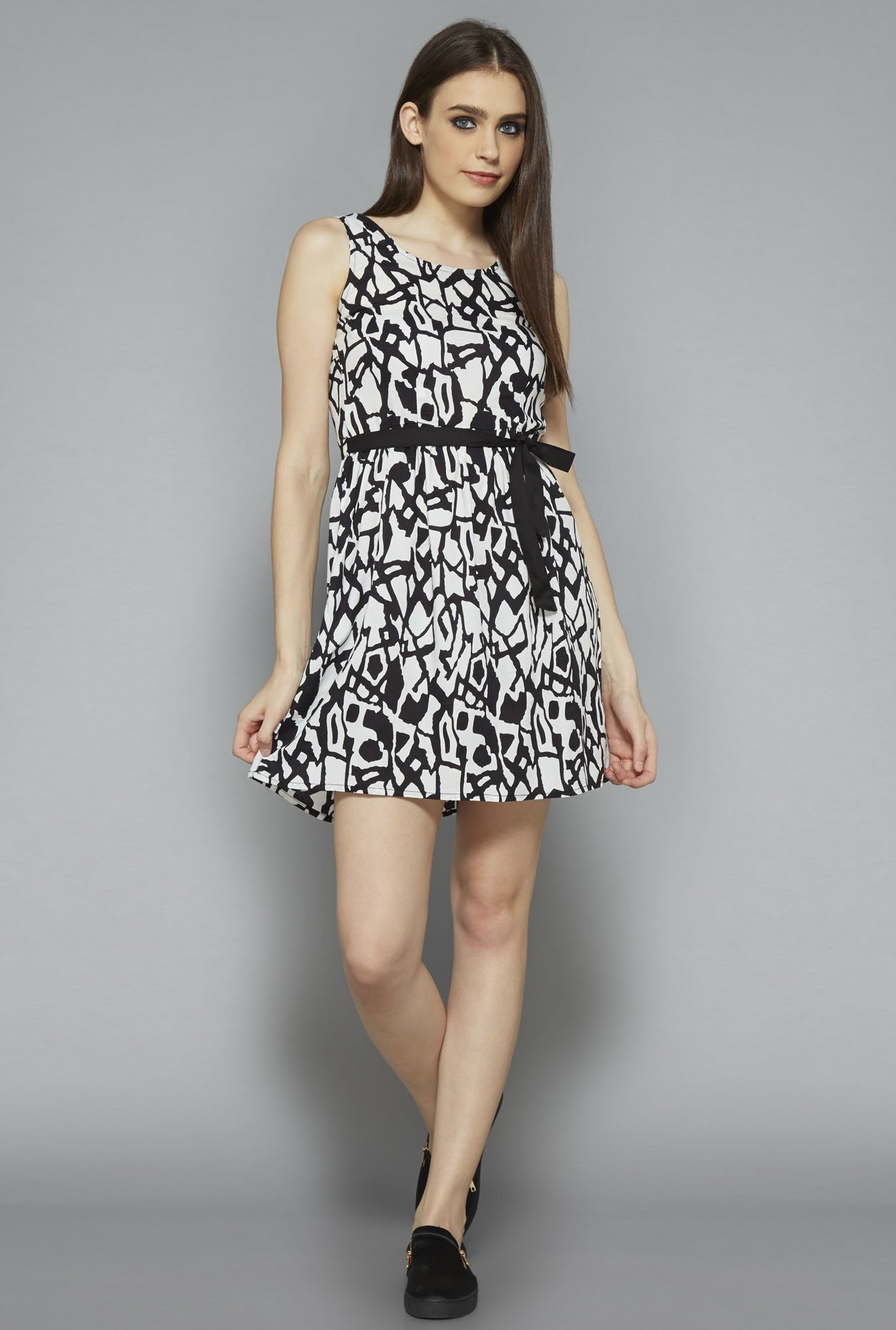 Nuon by Westside White Printed Dress