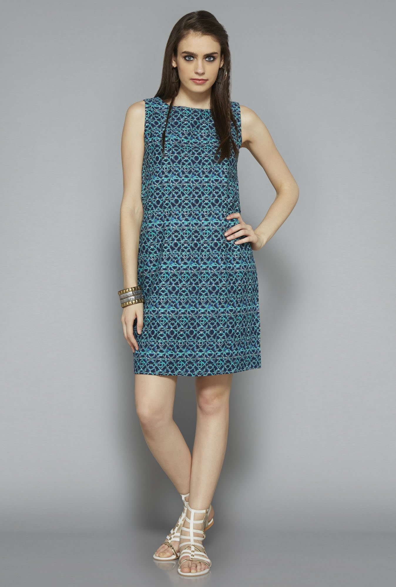 Bombay Paisley by Westside Indigo Printed Dress